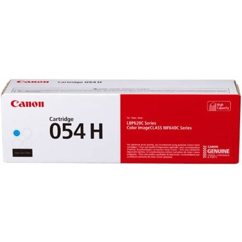 Canon® 054H Toner Cartridge - Cyan - Laser - High Yield - 2300 Pages - 1 Pack