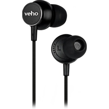 Veho Z3 In-Ear Headphones - Stereo - Mini-phone - Wired - 32 Ohm - 30 Hz - 16 kHz - Earbud - Binaural - In-ear - 3.94 ft Cable - Black