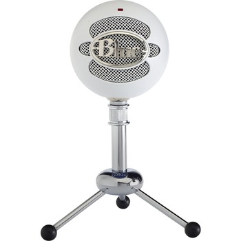 Logitech® Blue Snowball Microphone - 40 Hz to 18 kHz - Wired - Condenser - Cardioid, Omni-directional - Stand Mountable - USB