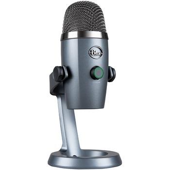 Blue Yeti Nano Microphone - 20 Hz to 20 kHz - Wired - Condenser - Cardioid, Omni-directional - Desktop, Stand Mountable - USB