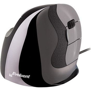 Evoluent® Vertical Mouse D, Right Wired Small - Laser - Cable - USB Type A - Scroll Wheel - Small Hand/Palm Size - Right-handed Only