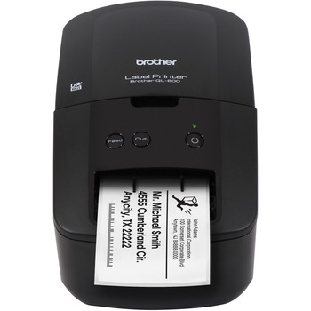 "QL-600 Direct Thermal Printer - Monochrome - Desktop - Label Print - 2.40"" Print Width - 2.80 in/s Mono - 300 x 600 dpi - Label, Name Badge Label, CD/DVD, Film, Removable Label, Non-adhesive Tag - 2.44"" Label Width - 39.37"" Label Length"