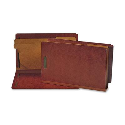Nature Saver 2-divider Red End-tab Classification Folders