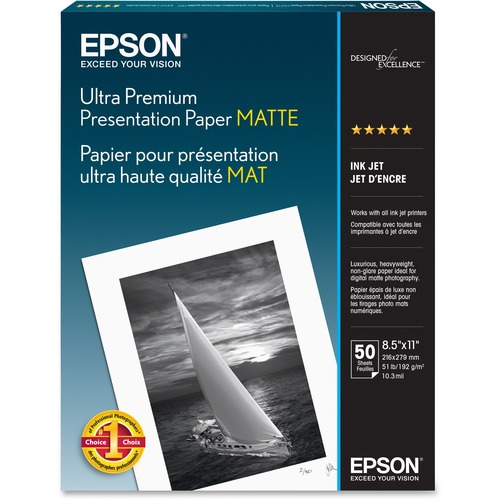 Epson Matte paper - Letter A Size (8.5 in x 11 in)