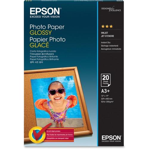 Epson Photo Paper Photo paper - Super B (13 in x 19 in) - 194 g/m2 - 20 sheet(s)