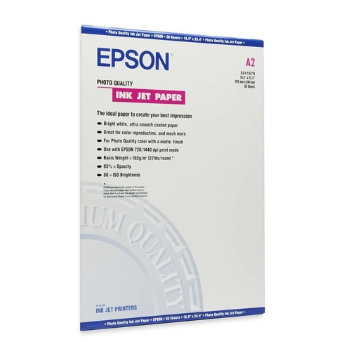 Epson Photo Quality Matte coated paper - A2 (16.5 in x 23.4 in) - 100 g/m2