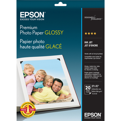 Epson Glossy photo paper - 8 in x 10 in