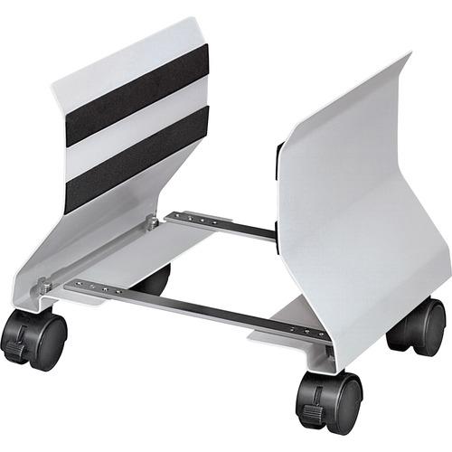 "Fellowes Premium CPU Stand - 50 lb Load Capacity - 9.5"" Height x 8"" Width x 9"" Depth - Steel - Platinum"