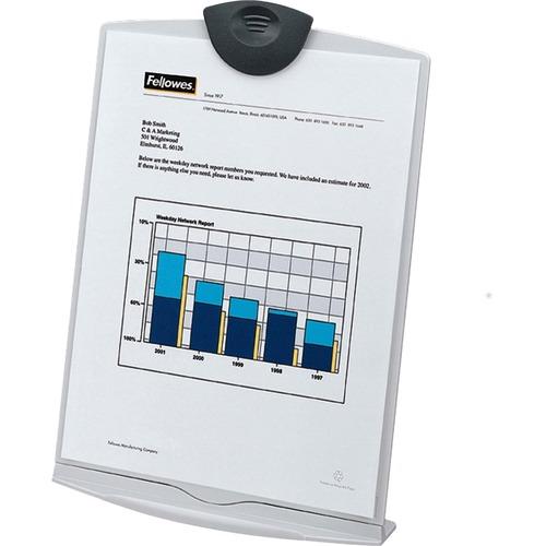 "Fellowes Copy Stand - 12.25"" (311.15 mm) Height x 9"" (228.60 mm) Width x 6.38"" (162.05 mm) Depth - Platinum, Charcoal - Plastic"