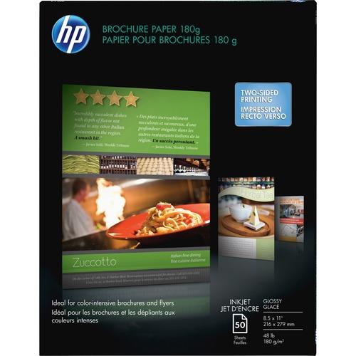 HP BROCHURE FLYER PAPER GLOSS A-SIZE 50SH FSC PAPER