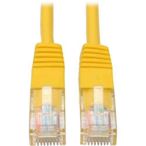 Tripp Lite 10ft Cat5e / Cat5 350MHz Molded Patch Cable RJ45 M/M Yellow 10'