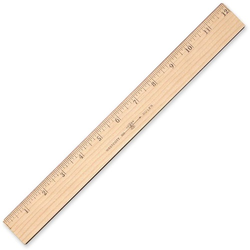 "Westcott 12"" Plastic Ruler - 12"" Length - 1/16 Graduations ..."