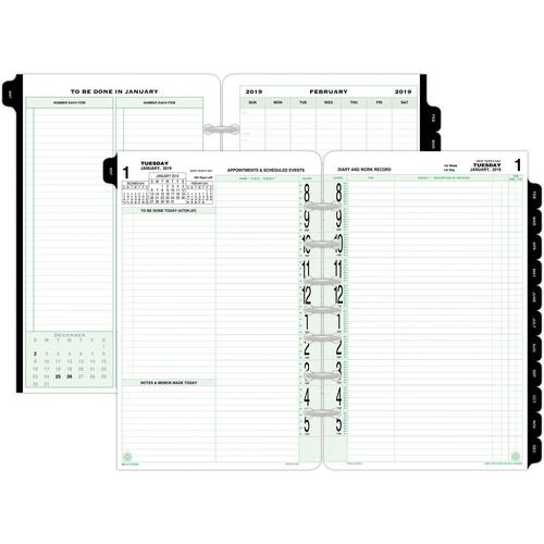 """Acco Original Calendar Refill Desk Jan-Dec 2 PPD 5-1//2/""""x8-1//2/"""" 92010"""