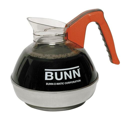 BUNN Unbreakable 12-Cup Decanter - 2.84 L Decanter - Stainless Steel Base - Orange - 1 Piece(s) Each