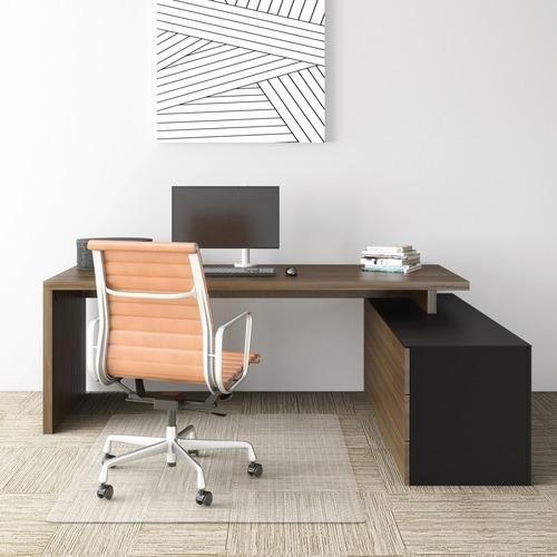 "Deflecto Economat for Carpet - Carpeted Floor - 60"" Length x 46"" Width - Vinyl - Clear"