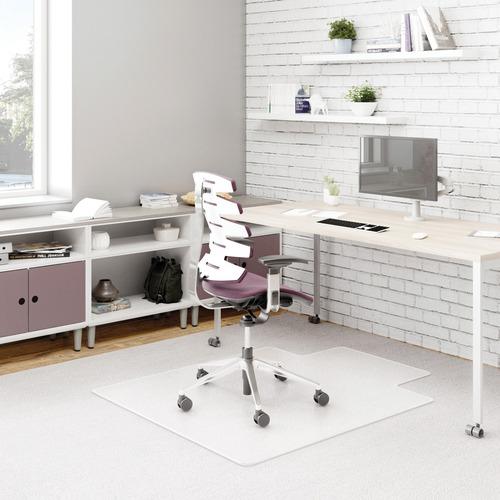 "Deflecto DurMat for Carpet - Carpeted Floor - 53"" Length x 45"" Width - Lip Size 12"" Length x 25"" Width - Vinyl - Clear"