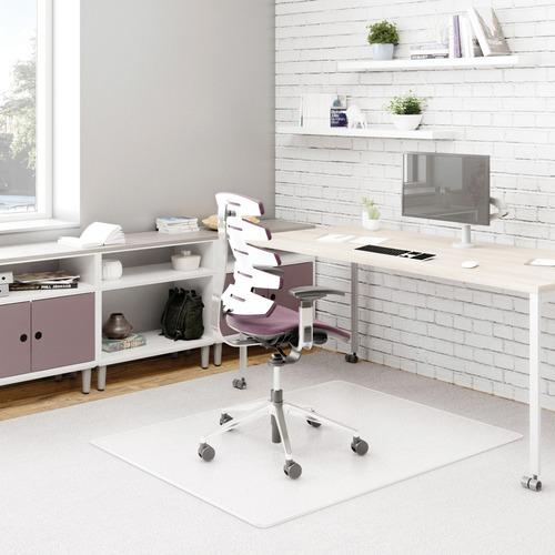 "Deflecto DurMat for Carpet - Carpeted Floor - 60"" Length x 46"" Width - Vinyl - Clear"