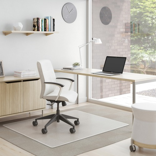 "Deflecto SuperMat for Carpet - Carpeted Floor - 53"" Length x 45"" Width - Vinyl - Clear"