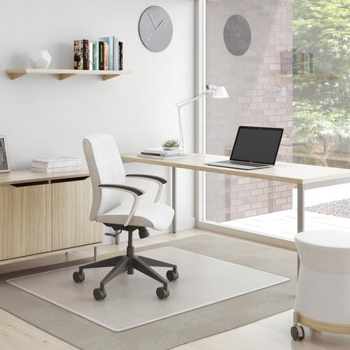 "Deflecto SuperMat for Carpet - Carpeted Floor - 53"" Length x 45"" Width - Vinyl - Clear"