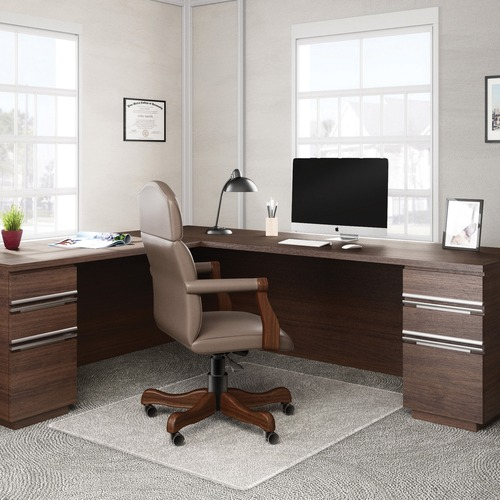 "Deflecto RollaMat for Carpet - Carpeted Floor - 60"" Length x 46"" Width - Vinyl - Clear"