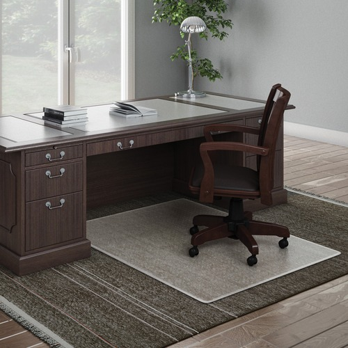 """Deflecto ExecuMat for Carpet - Carpeted Floor - 53"""" Length x 45"""" Width x 0.33"""" Thickness - Vinyl - Clear"""