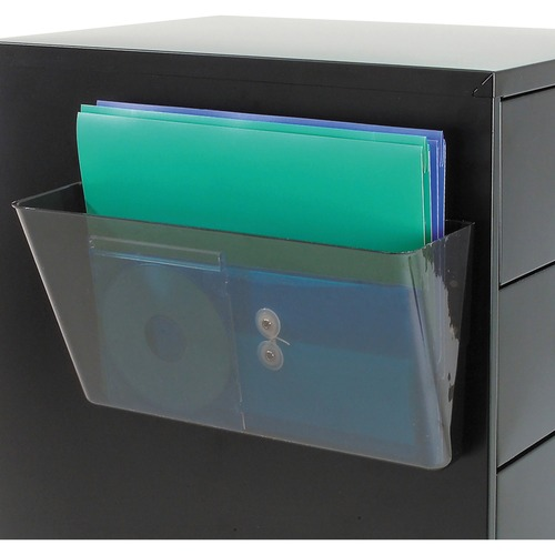 Deflecto Wall Pocket 1 Compartment 73201 13 x 4 x 7 13 x 4 x 7 Deflect-o Products Clear