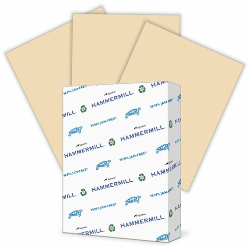 """Hammermill Paper for Copy 8.5x11 Laser, Inkjet Copy & Multipurpose Paper - Tan - Recycled - 30% - Letter - 8 1/2"""" x 11"""" - 20 lb Basis Weight - Smooth - 500 / Ream - SFI"""