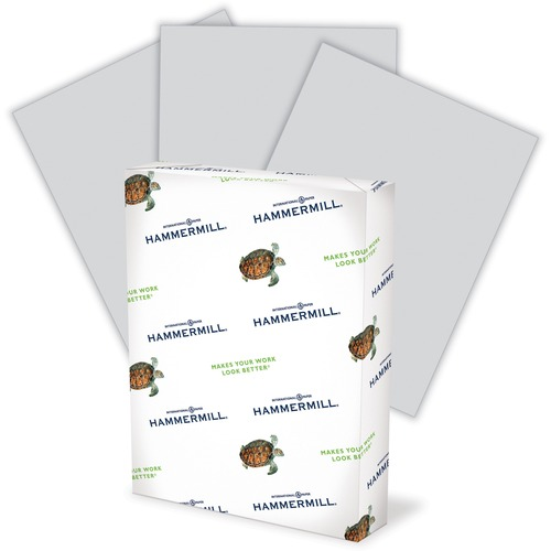 """Hammermill Paper for Copy 8.5x11 Laser, Inkjet Copy & Multipurpose Paper - Gray - Recycled - 30% - Letter - 8 1/2"""" x 11"""" - 20 lb Basis Weight - Smooth - 500 / Ream - SFI"""
