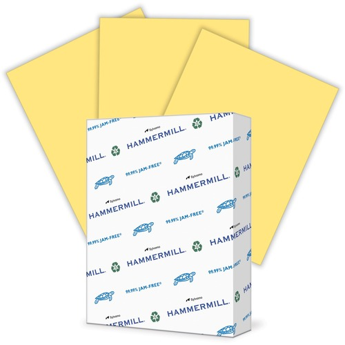 """Hammermill Paper for Copy 8.5x11 Laser, Inkjet Colored Paper - Buff - Recycled - 30% - Letter - 8 1/2"""" x 11"""" - 20 lb Basis Weight - Smooth - 500 / Ream - SFI"""