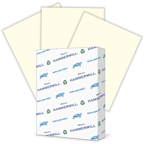 """Hammermill Paper for Copy 8.5x11 Laser, Inkjet Colored Paper - Cream - Recycled - 30% - Letter - 8 1/2"""" x 11"""" - 20 lb Basis Weight - Smooth - 500 / Ream - SFI"""