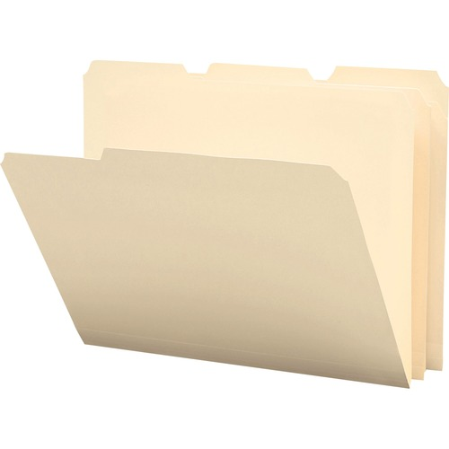 """Smead Heavyweight Poly File Folders - Letter - 8 1/2"""" x 11"""" Sheet Size - 3/4"""" Expansion - 1/3 Tab Cut - Top Tab Location - Assorted Position Tab Posit"""