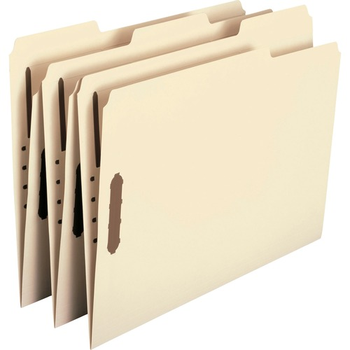 """Smead 100% Recycled Fastener Folders with Reinforced Tab - Letter - 8 1/2"""" x 11"""" Sheet Size - 3/4"""" Expansion - 2 x 2K Fastener(s) - 2"""" Fastener Capaci"""