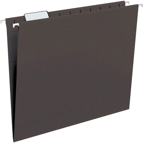 """Smead Hanging File Folders with Tab - Letter - 8 1/2"""" x 11"""" Sheet Size - 1/5 Tab Cut - Top Tab Location - Assorted Position Tab Position - 11 pt. Fold"""