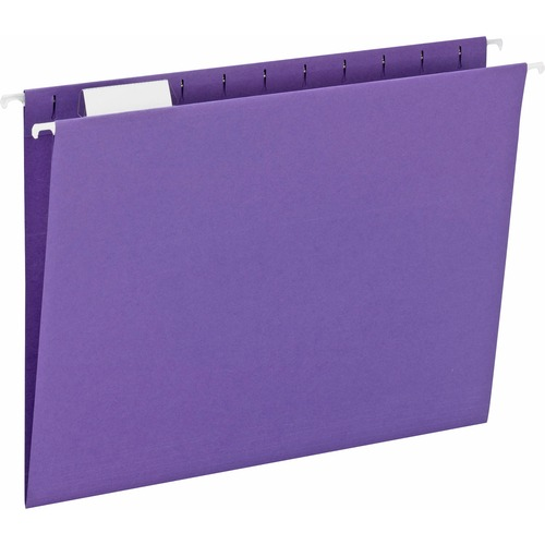 """Smead Hanging File Folder with Tab - Letter - 8 1/2"""" x 11"""" Sheet Size - 1/5 Tab Cut - Top Tab Location - Assorted Position Tab Position - 11 pt. Folde"""