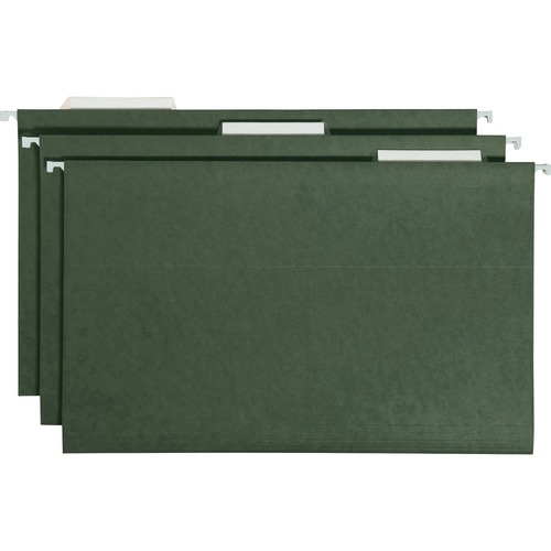 """Smead Hanging File Folders with Tab - Legal - 8 1/2"""" x 14"""" Sheet Size - 1/3 Tab Cut - Top Tab Location - Assorted Position Tab Position - 11 pt. Folde"""