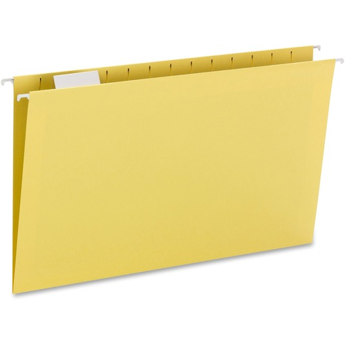 """Smead Hanging File Folders with Tab - Legal - 8 1/2"""" x 14"""" Sheet Size - 1/5 Tab Cut - Top Tab Location - Assorted Position Tab Position - 11 pt. Folde"""