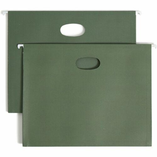 "Smead Hanging Pockets - 3 1/2"" Folder Capacity - Letter - 8 1/2"" x 11"" Sheet Size - 3 1/2"" Expansion - 11 pt. Folder Thickness - Standard Green - 4.99"