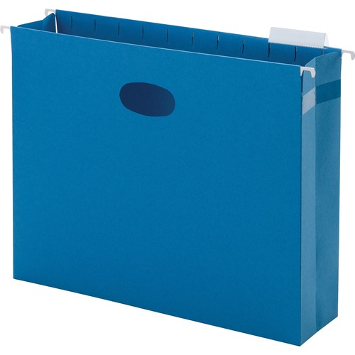 """Smead Hanging Pockets with Full-Height Gusset - Letter - 8 1/2"""" x 11"""" Sheet Size - 2"""" Expansion - 1/5 Tab Cut - Top Tab Location - Assorted Position T"""