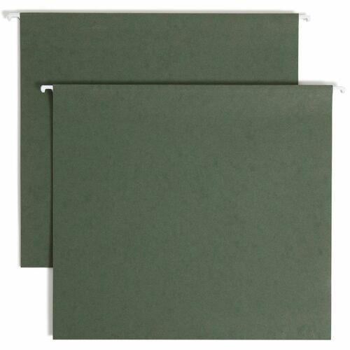 "Smead Hanging Box Bottom Folders - 3"" Folder Capacity - Letter - 8 1/2"" x 11"" Sheet Size - 3"" Expansion - 11 pt. Folder Thickness - Pressboard - Stand"