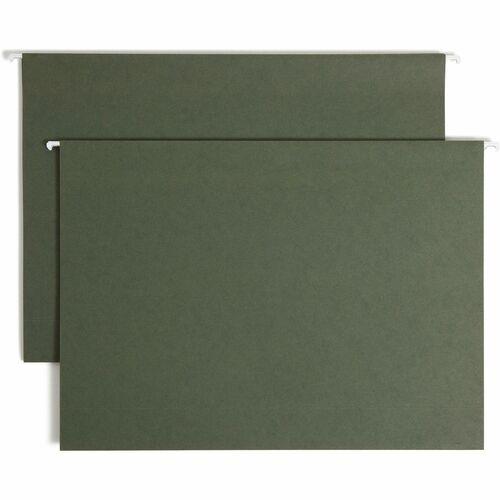 "Smead Hanging Box Bottom Folders - 3"" Folder Capacity - Legal - 8 1/2"" x 14"" Sheet Size - 3"" Expansion - 11 pt. Folder Thickness - Standard Green - 4."