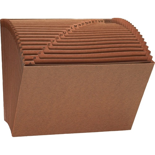 """Smead Tuff Expanding File - Letter - 8 1/2"""" x 11"""" Sheet Size - 7/8"""" Expansion - 21 Pocket(s) - Redrope - Redrope - 1.85 lb - Recycled - 1 Each"""