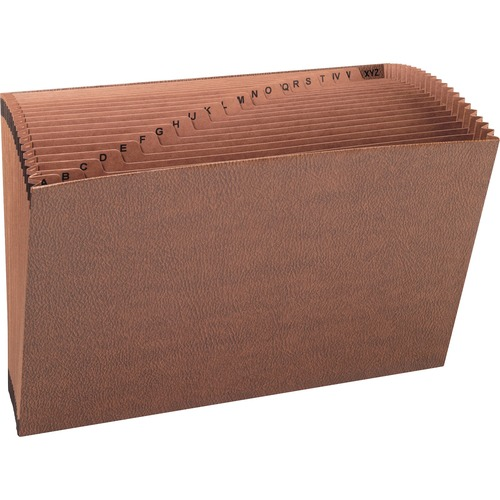 """Smead Tuff Expanding File - Legal - 8 1/2"""" x 14"""" Sheet Size - 7/8"""" Expansion - 21 Pocket(s) - Redrope - Redrope - 2.12 lb - Recycled - 1 / Each"""