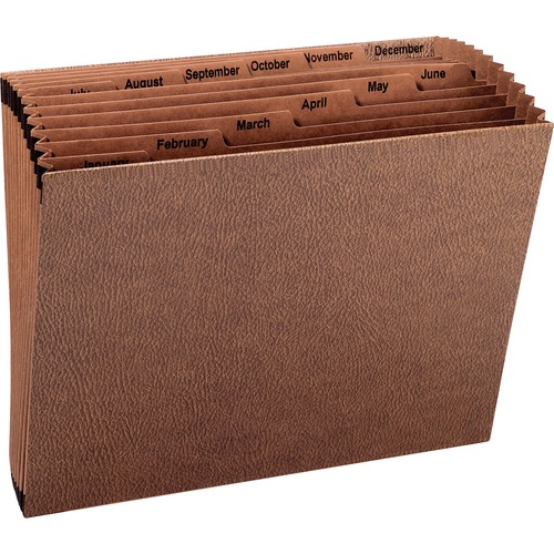 """Smead Tuff Expanding File - Letter - 8 1/2"""" x 11"""" Sheet Size - 7/8"""" Expansion - 12 Pocket(s) - Redrope - 1.26 lb - Recycled - 1 Each"""