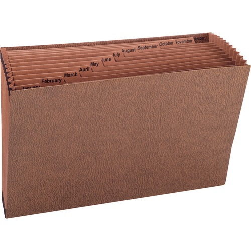 """Smead Tuff Expanding File - Legal - 8 1/2"""" x 14"""" Sheet Size - 7/8"""" Expansion - 12 Pocket(s) - Redrope - 1.52 lb - Recycled - 1 Each"""