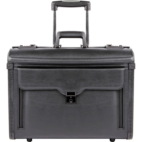 """bugatti Carrying Case for 17"""" Notebook - Black - Koskin - 15"""" (381 mm) Height x 19"""" (482.60 mm) Width x 9"""" (228.60 mm) Depth - 1 Pack"""