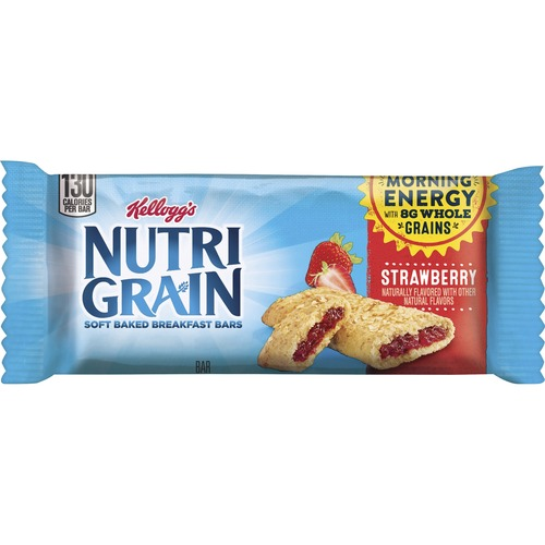 Kellogg's&reg Nutri-Grain&reg Bar Strawberry - Low Fat - Strawberry - 16 / Box