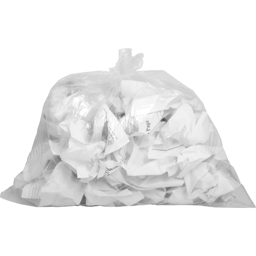 """Genuine Joe Clear Trash Can Liners - Small Size - 10 gal - 24"""" Width x 23"""" Length x 0.60 mil (15 Micron) Thickness - Low Density - Clear - 500/Carton"""