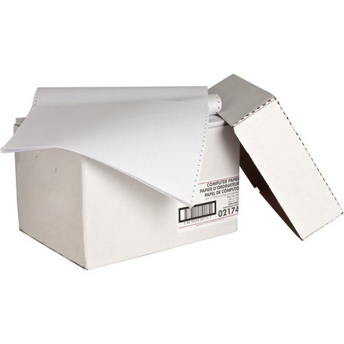 """Sparco Continuous Paper - White - 14 7/8"""" x 11"""" - 20 lb Basis Weight - 2400 / Carton"""