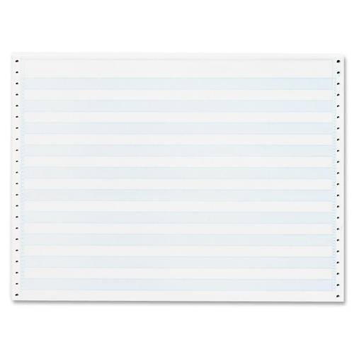 "Sparco Continuous Paper - Blue Bar - 14 7/8"" x 11"" - 20 lb Basis Weight - 2400 / Carton"