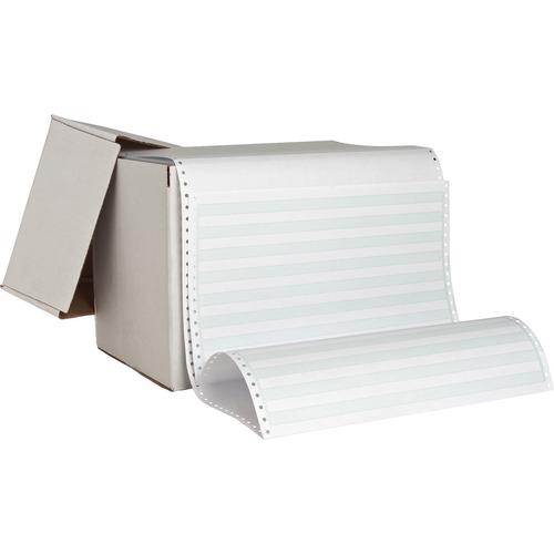 "Sparco Continuous Paper - Green Bar - 14 7/8"" x 8 1/2"" - 20 lb Basis Weight - 2600 / Carton"